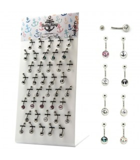 Exhibitor navel piercing anchor- BEL208