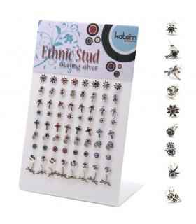 Expositor pendientes etnicos con piedra - PEN926