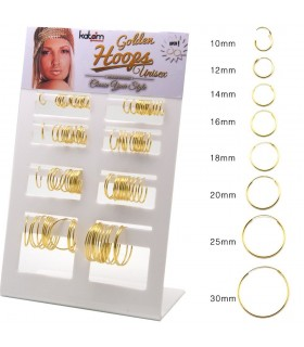 Exhibitor gold plated hoops - ARO48