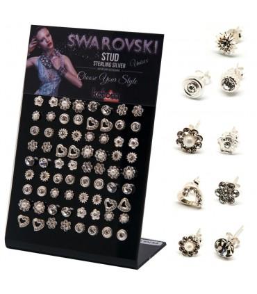 Expositor pendientes con swarovskis - MIXSWA
