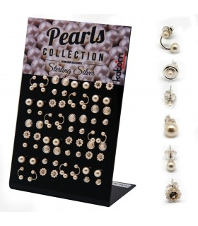 Earrings with pearls exhibitor - MIXPEARL