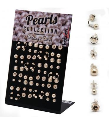 Expositor pendientes con perlas - MIXPEARL