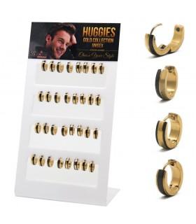 Expositor Aro diseño Acero dorado - HAGS5019GOLD