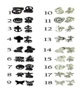 Pendientes acero símbolos - STD4581