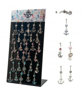 Anchor belly ring fantazy display - BEL118