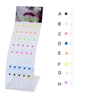 exhibitor  lip piercing  silicone ball - MDN7100