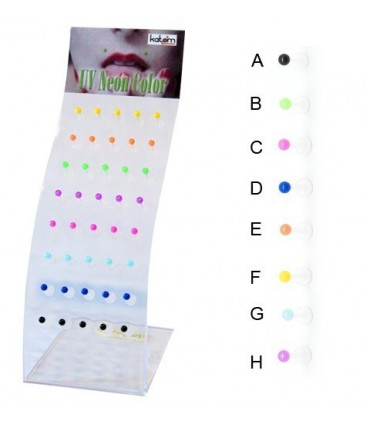 exhibitor lip piercing silicone ball - MDN7100