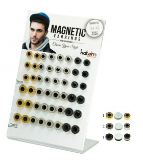 Display magnetic fake plug steel and enamel - FPM1