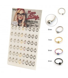 Flexible ring for nose, lip and eyebrow - BEL110