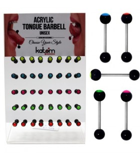 Tongh barbell acrylic display-BRB6120
