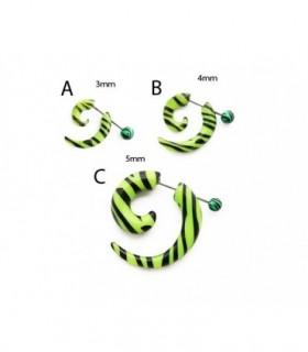 Fake spiral green Zebra - IP1461D
