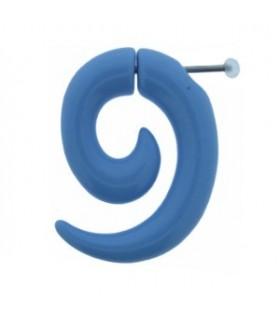 Falsa dilatación forma espiral color celeste - IP1037CELECTE