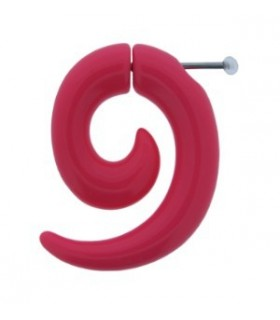 Illusion plugs shape spiral Fuchsia color - IP1037FUXIA