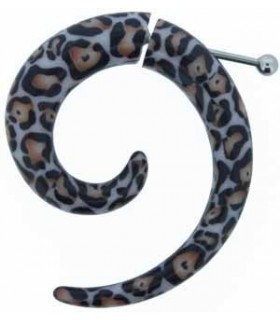 Illusion plugs spiral - Leopard print - IP1035L