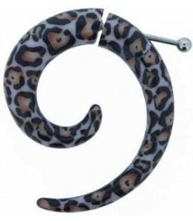 Falsa dilatación forma espiral - Estampado Leopardo - IP1035L