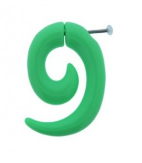 Illusion plugs form spiral green - IP1038-Verde