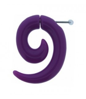 Illusion plugs forms spiral - IP1038-Lila