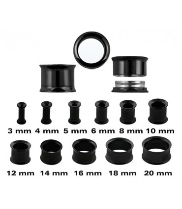 Ear plug black thread inner - Steel Black - Ep2051DPVD