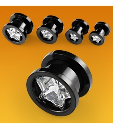 Ear plug PVD - White Star - Ep2062Dpvd