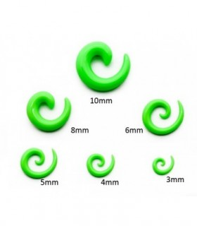 Acrylic spiral expander - green - EXP3030-Green