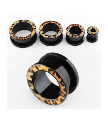 Ear plugs of Leopard acrylic - EP2095DLEOP