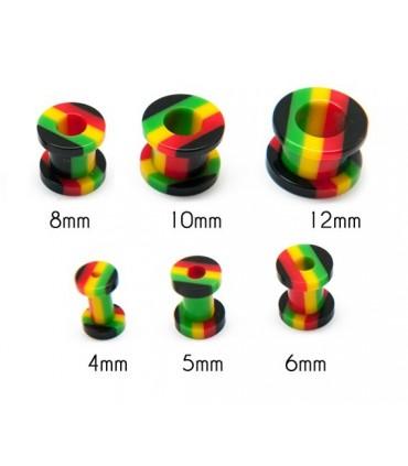 Ear plug Tunnel Rasta - Ep2250RastaD