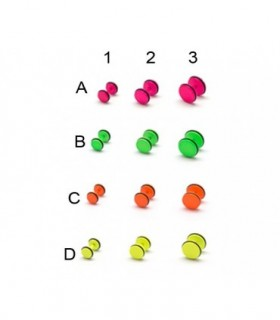 Stell neon color fake plug -IP1587D