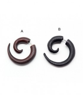 Falsa espirales de madera en marron y negro-IP1420D