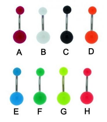 Piercing ombligo cremallera color-BEL081D
