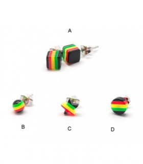 Stud rasta earrings -PEN1178D