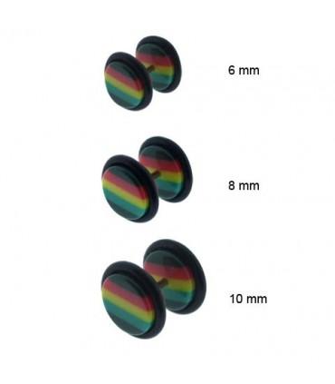 Rasta acrylic fake plug-IP1046D