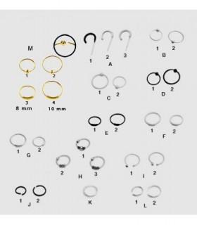 Aros de plata para nariz - NRO10D