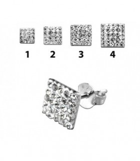 Squre stud silver earrings-PEN200D