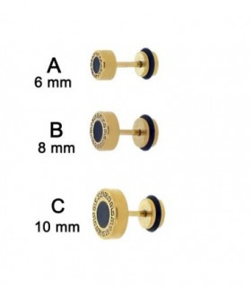 Gold with black point illuion plug - IP1088GD