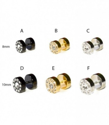 Fake plugs in Steel and Crystal - IP1500A