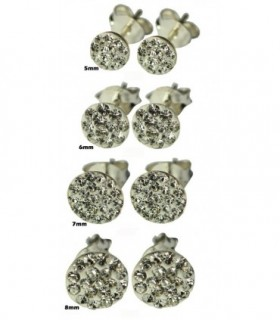 Stud earring sterling silver and zircon - PEN130D