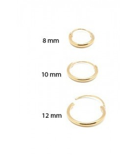 hoops sterling silver gold plated - ARO7D