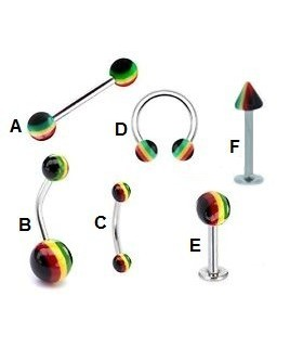 piercing for lip, eyebrow, tongue or navel - BEL054D