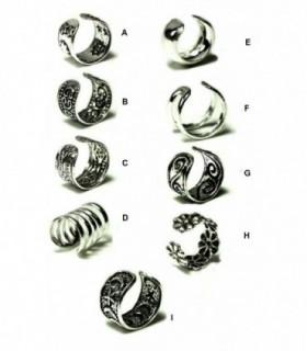Aro para cartilago oreja de plata -EC1D