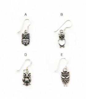 Earring with owls design - OCHD