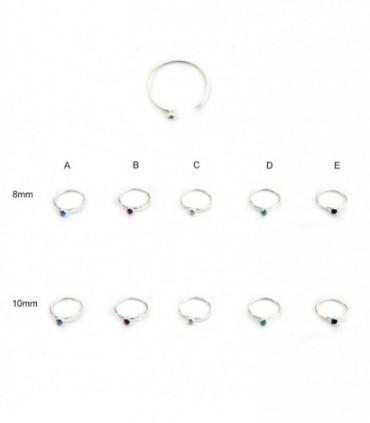 Silver nose ring - ARN108D