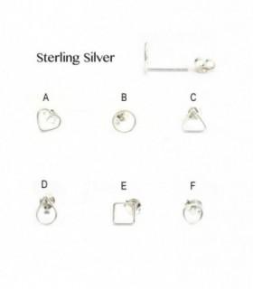 Silver delicate earring - PEN931D