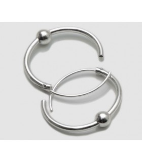 Hoop Silver with ball - ARO3D