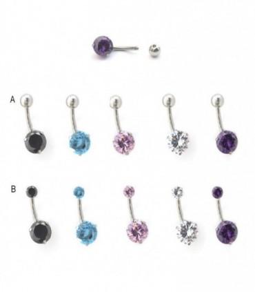 Zirconite piercing navel - BEL89D
