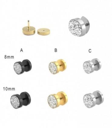 Illusion Plug with stones - IP1589MIXD