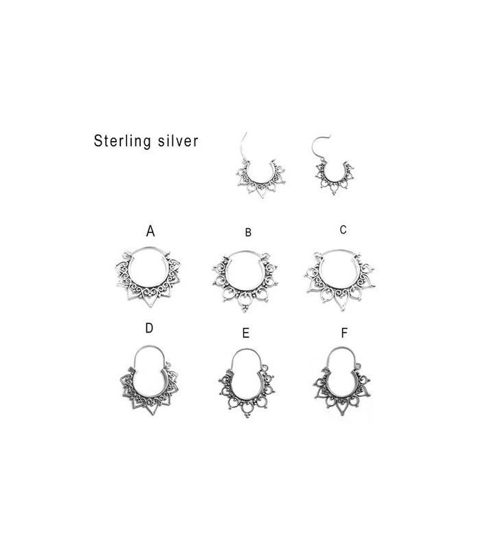 Sterling silver boho hoops  - BOHOSILD