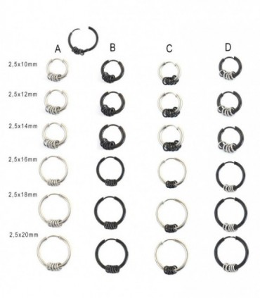 Steel hoop with ring - ARO39D