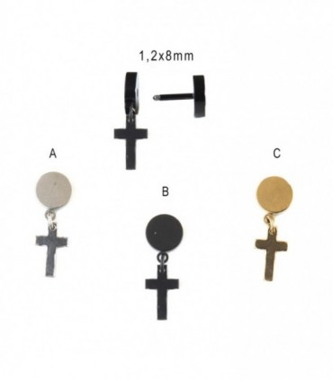 Cross pendant Illusion Plug  - IPCOLCROSSD