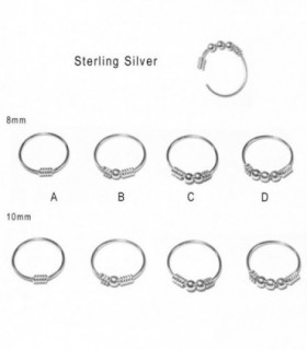 Silver nose ring  - ARN115D