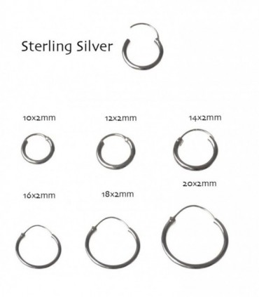 Silver Hoop - ARO45MIX2D